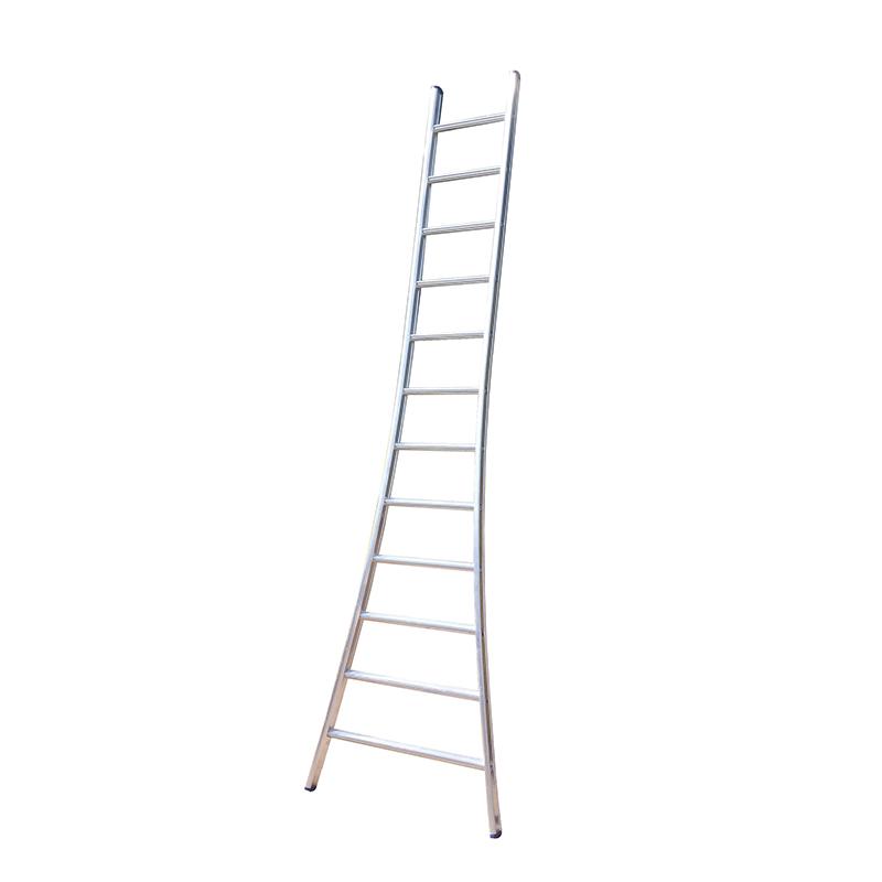 Maxall Enkele Ladder 1 X 6 UITGEBOGEN. Lengte = 1,75 Mtr