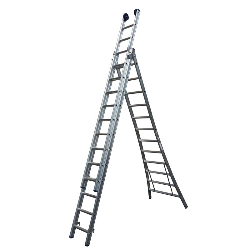 Driedelige Ladder Uitgebogen